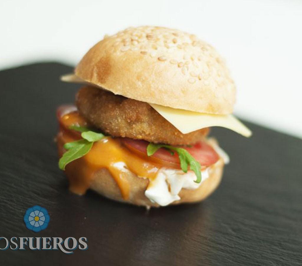 Lenteja-burger con mahonesa de ibérico